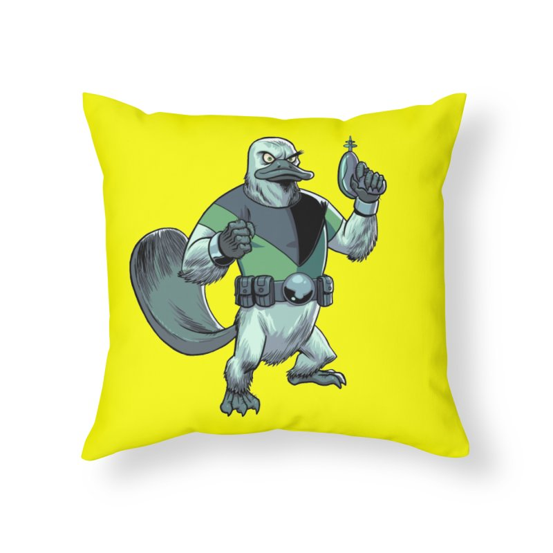 Shirt of the Month June 2017: Platypus Rex Home Throw Pillow by Edison Rex
