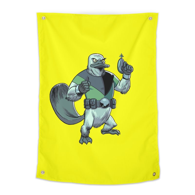 Shirt of the Month June 2017: Platypus Rex Home Tapestry by edisonrex's Artist Shop