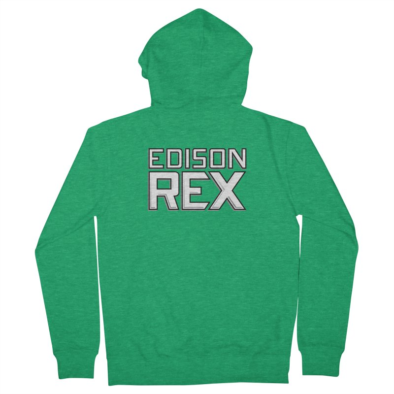 Edison Rex logo Men's Zip-Up Hoody by Edison Rex