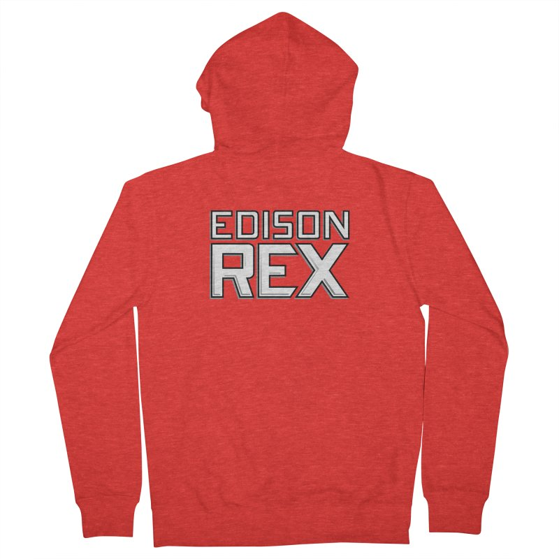 Edison Rex logo Men's Zip-Up Hoody by Edison Rex