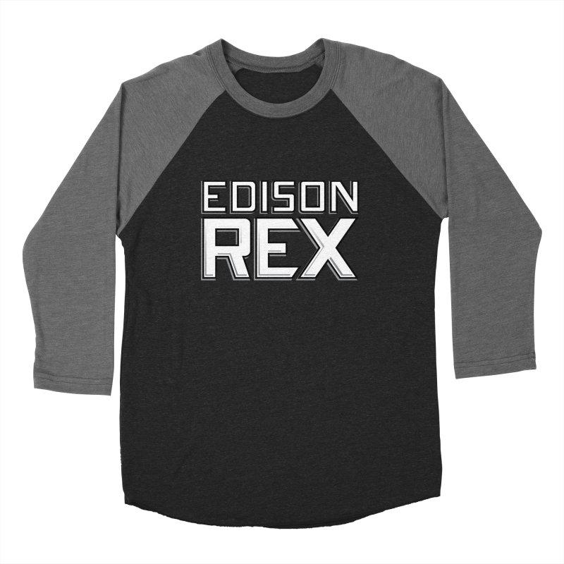 Edison Rex logo Men's Baseball Triblend T-Shirt by edisonrex's Artist Shop