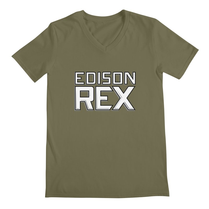 Edison Rex logo Men's V-Neck by edisonrex's Artist Shop
