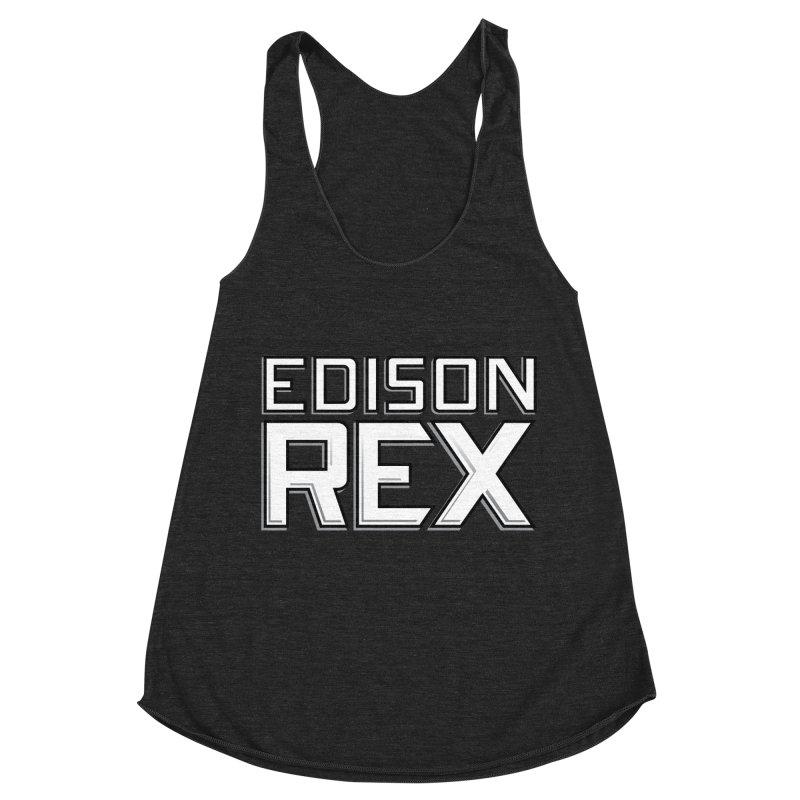 Edison Rex logo Women's Racerback Triblend Tank by Edison Rex