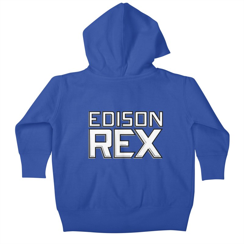 Edison Rex logo Kids Baby Zip-Up Hoody by Edison Rex