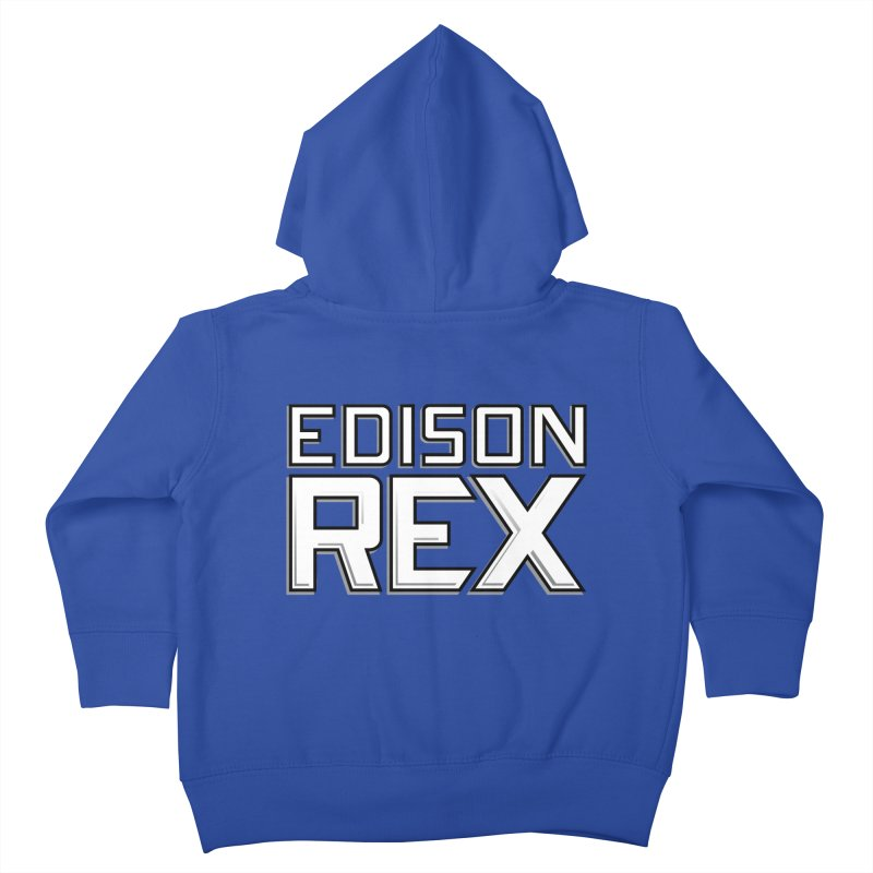 Edison Rex logo Kids Toddler Zip-Up Hoody by Edison Rex