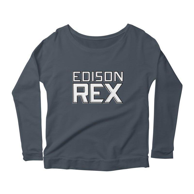 Edison Rex logo Women's Scoop Neck Longsleeve T-Shirt by Edison Rex