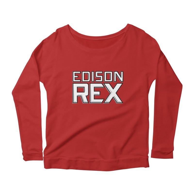 Edison Rex logo Women's Longsleeve Scoopneck  by edisonrex's Artist Shop