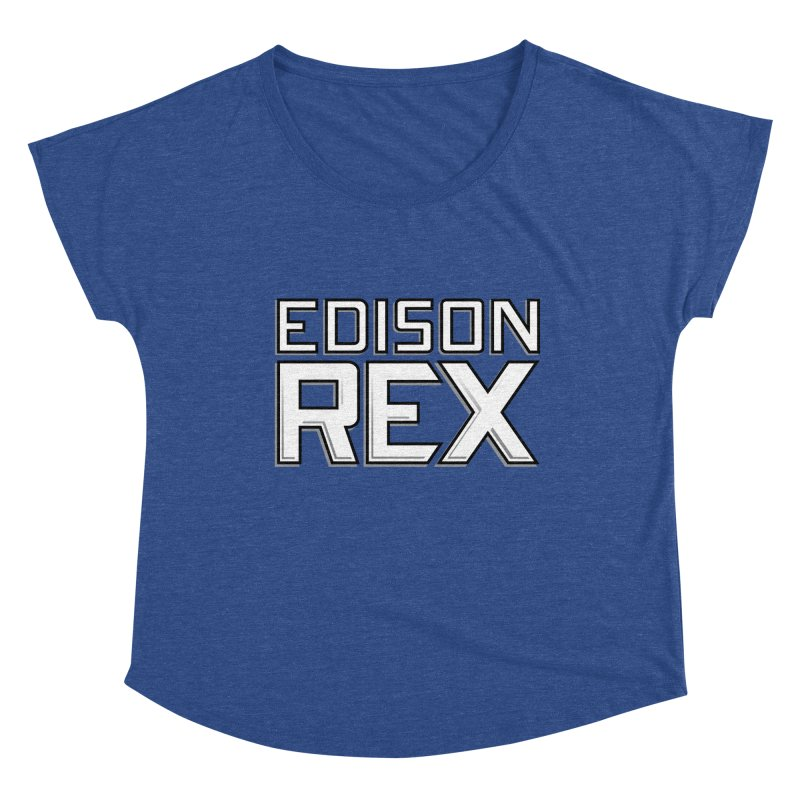 Edison Rex logo Women's Dolman Scoop Neck by Edison Rex