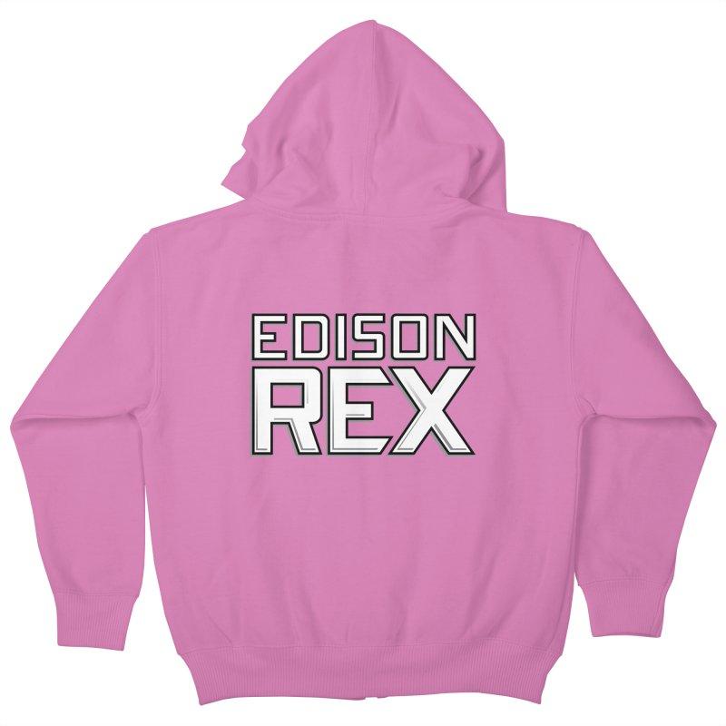 Edison Rex logo Kids Zip-Up Hoody by edisonrex's Artist Shop