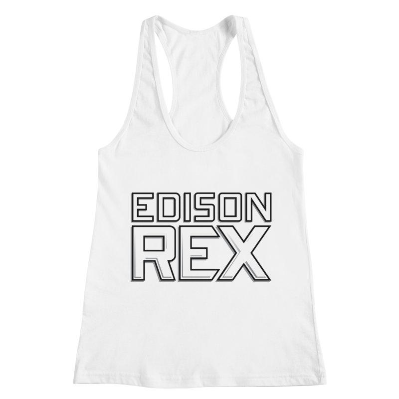 Edison Rex logo Women's Racerback Tank by Edison Rex