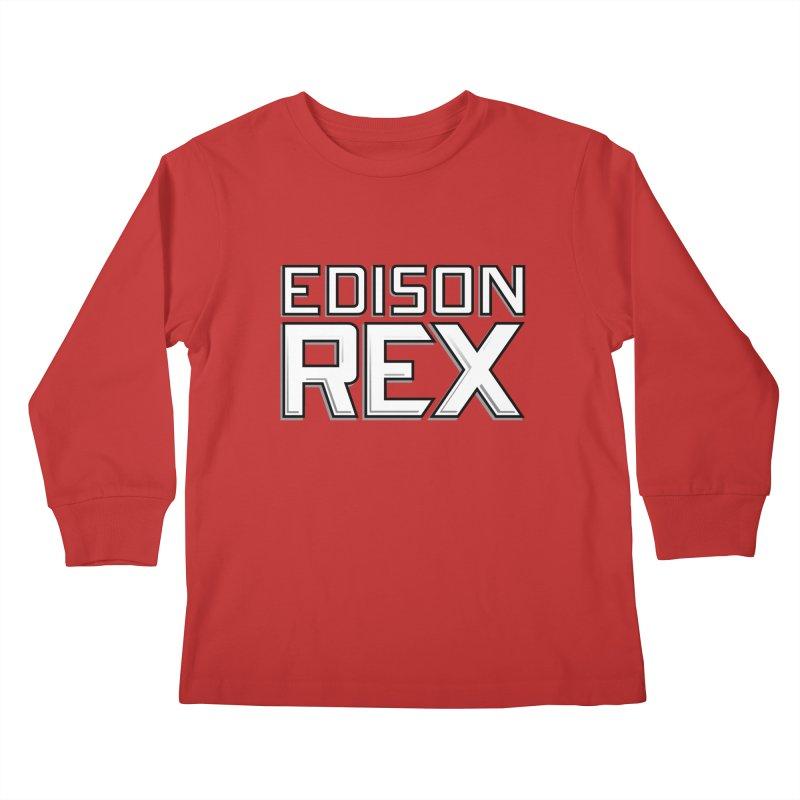Edison Rex logo Kids Longsleeve T-Shirt by Edison Rex