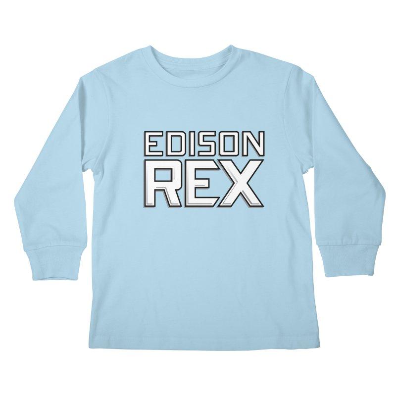 Edison Rex logo Kids Longsleeve T-Shirt by edisonrex's Artist Shop