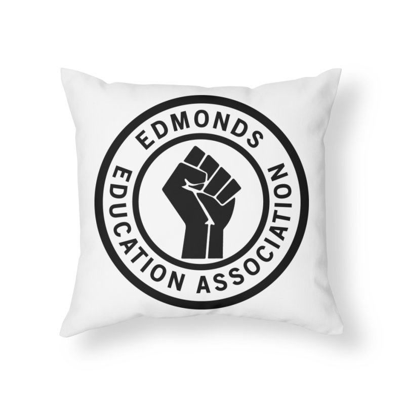 EEA Seal - BLM Home Throw Pillow by Edmonds Education Association Swag Shop