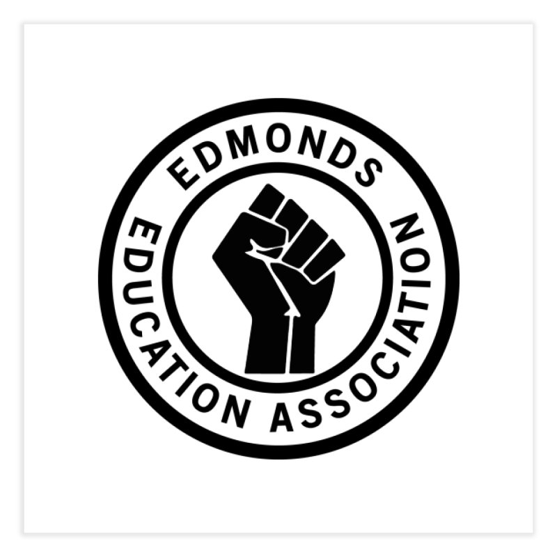 EEA Seal - BLM Home Fine Art Print by Edmonds Education Association Swag Shop