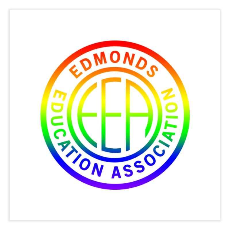 EEA Seal - Pride Home Fine Art Print by Edmonds Education Association Swag Shop