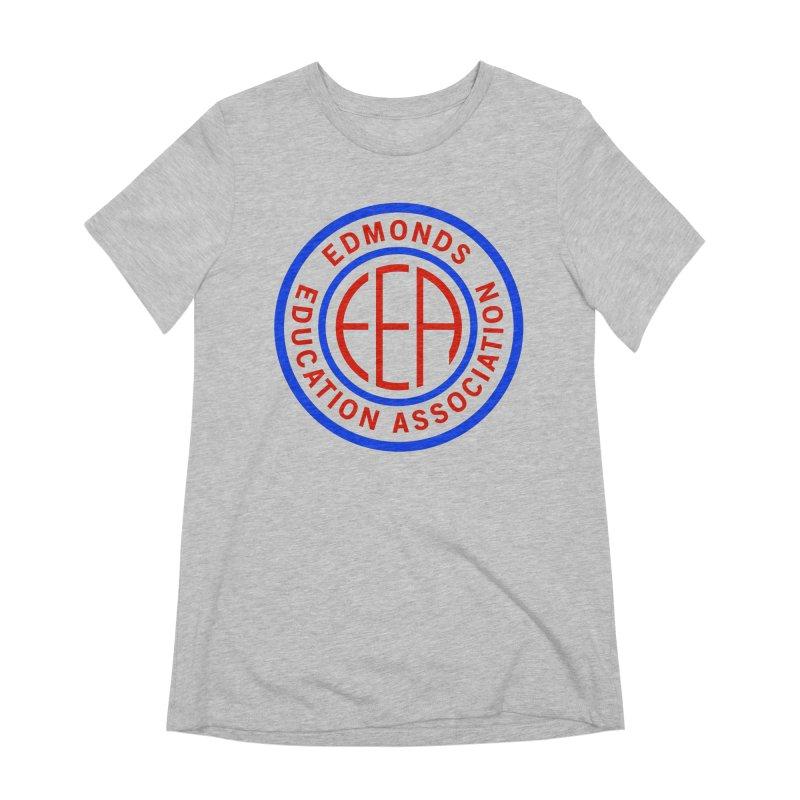 Edmonds EA Seal Full Size Women's Extra Soft T-Shirt by Edmonds Education Association Swag Shop