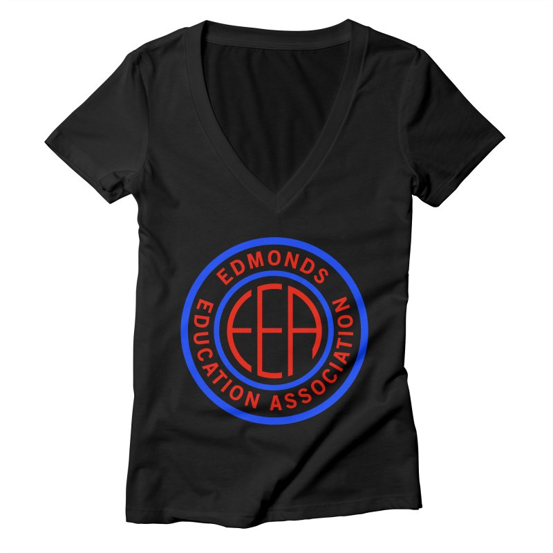 Edmonds EA Seal Full Size Women's Deep V-Neck V-Neck by Edmonds Education Association Swag Shop
