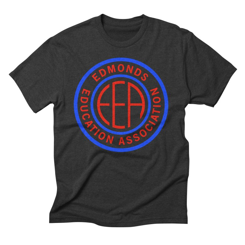 Edmonds EA Seal Full Size Men's Triblend T-Shirt by Edmonds Education Association Swag Shop