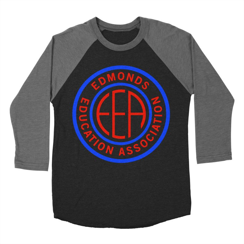 Edmonds EA Seal Full Size Women's Baseball Triblend Longsleeve T-Shirt by Edmonds Education Association Swag Shop