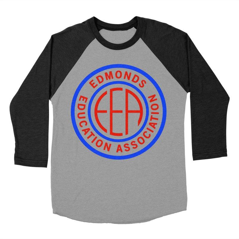 Edmonds EA Seal Full Size Men's Baseball Triblend Longsleeve T-Shirt by Edmonds Education Association Swag Shop
