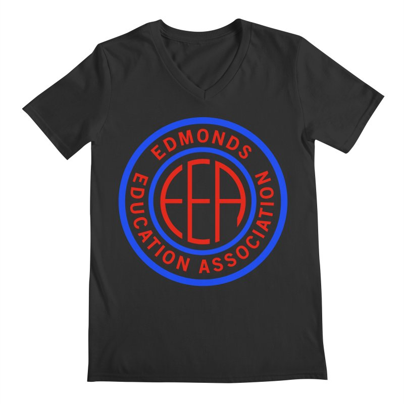 Edmonds EA Seal Full Size Men's Regular V-Neck by Edmonds Education Association Swag Shop