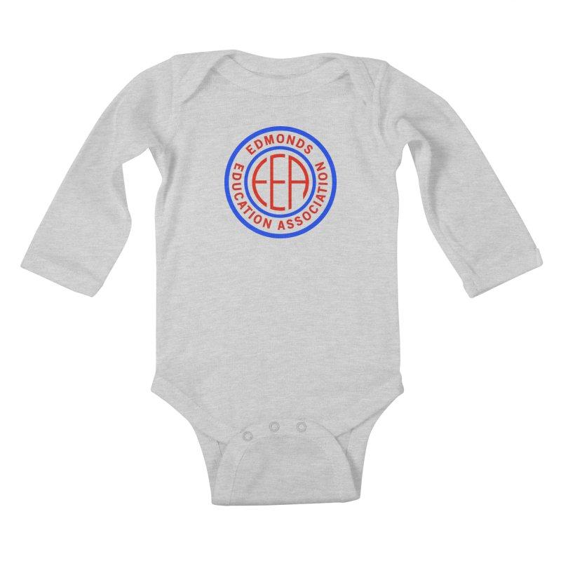 Edmonds EA Seal Full Size Kids Baby Longsleeve Bodysuit by Edmonds Education Association Swag Shop