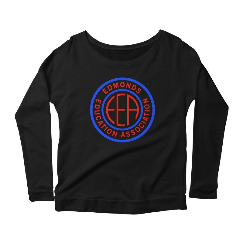 Edmonds EA Seal Full Size Women's Scoop Neck Longsleeve T-Shirt by Edmonds Education Association Swag Shop