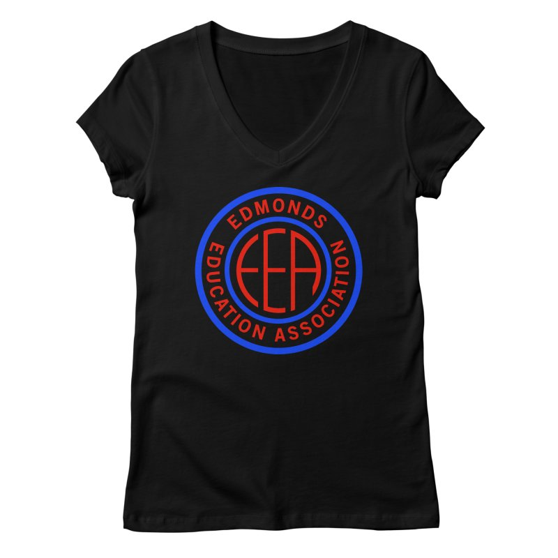 Edmonds EA Seal Full Size Women's Regular V-Neck by Edmonds Education Association Swag Shop