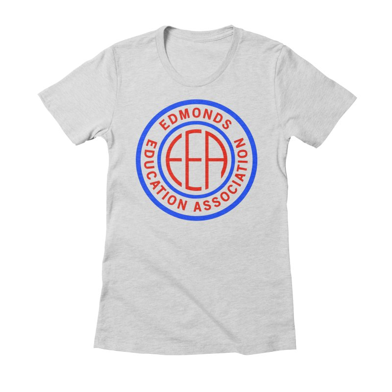 Edmonds EA Seal Full Size Women's Fitted T-Shirt by Edmonds Education Association Swag Shop