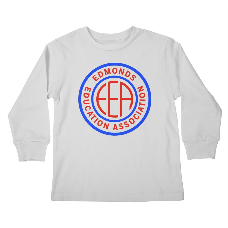 Edmonds EA Seal Full Size Kids Longsleeve T-Shirt by Edmonds Education Association Swag Shop