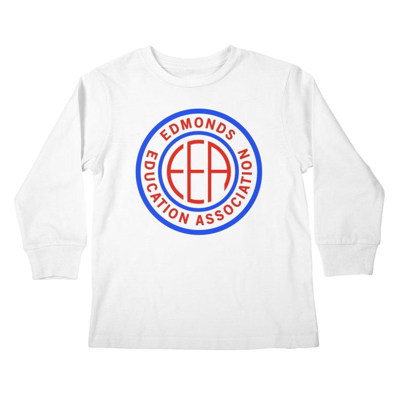 Edmonds EA Seal Full Size Kids Longsleeve T-Shirt by Edmonds Education Association Swag Shop