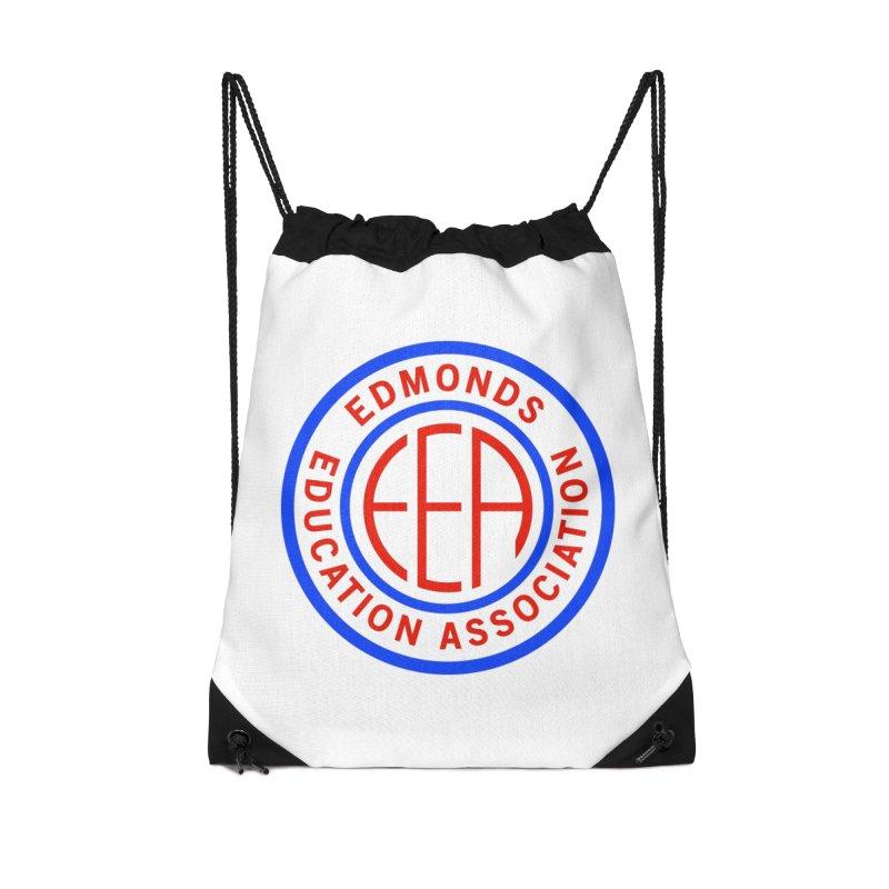 Edmonds EA Seal Full Size Accessories Drawstring Bag Bag by Edmonds Education Association Swag Shop