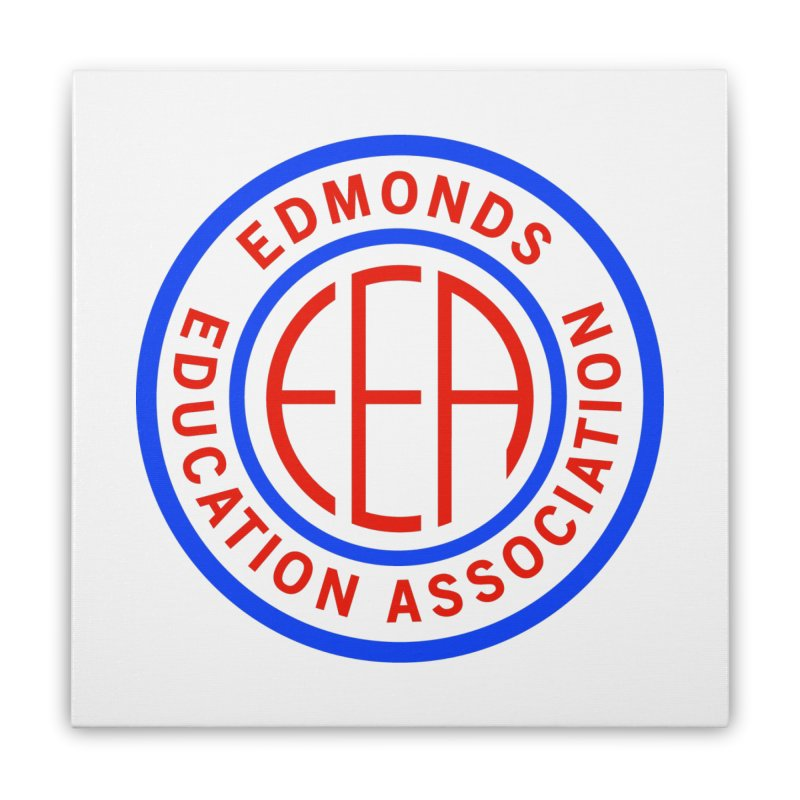 Edmonds EA Seal Full Size Home Stretched Canvas by Edmonds Education Association Swag Shop