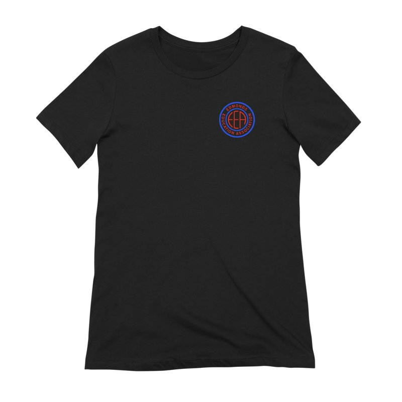Edmonds EA Seal Logo Size Women's Extra Soft T-Shirt by Edmonds Education Association Swag Shop
