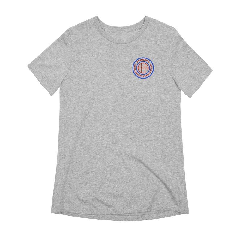 Edmonds EA Seal Logo Size Women's Extra Soft T-Shirt by Edmonds Education Association Swag Shop