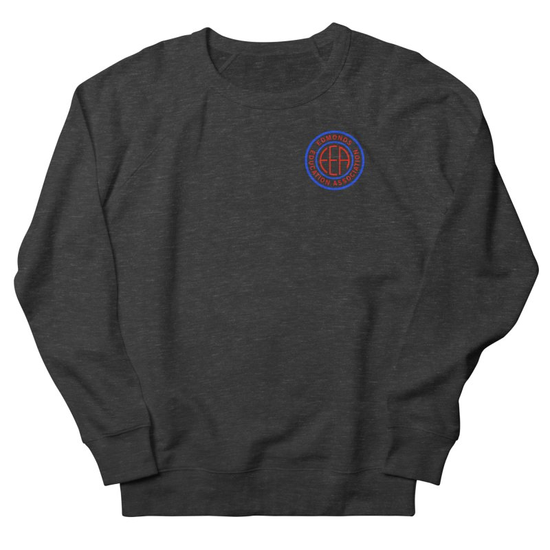 Edmonds EA Seal Logo Size Men's French Terry Sweatshirt by Edmonds Education Association Swag Shop