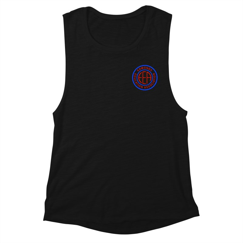 Edmonds EA Seal Logo Size Women's Muscle Tank by Edmonds Education Association Swag Shop
