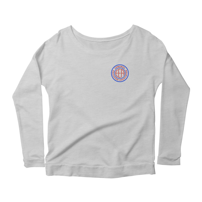 Edmonds EA Seal Logo Size Women's Scoop Neck Longsleeve T-Shirt by Edmonds Education Association Swag Shop