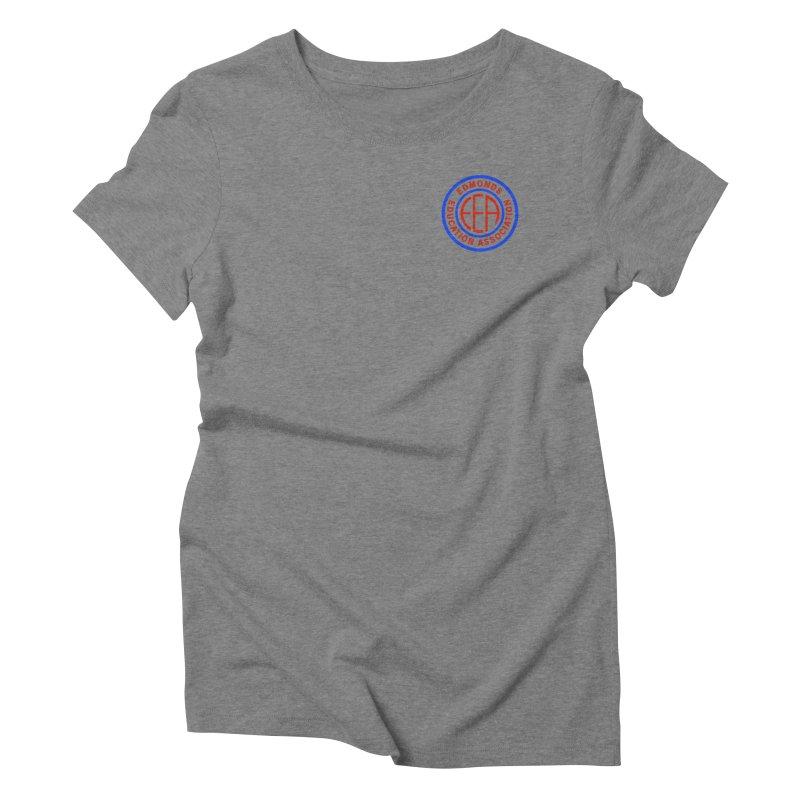 Edmonds EA Seal Logo Size Women's Triblend T-Shirt by Edmonds Education Association Swag Shop