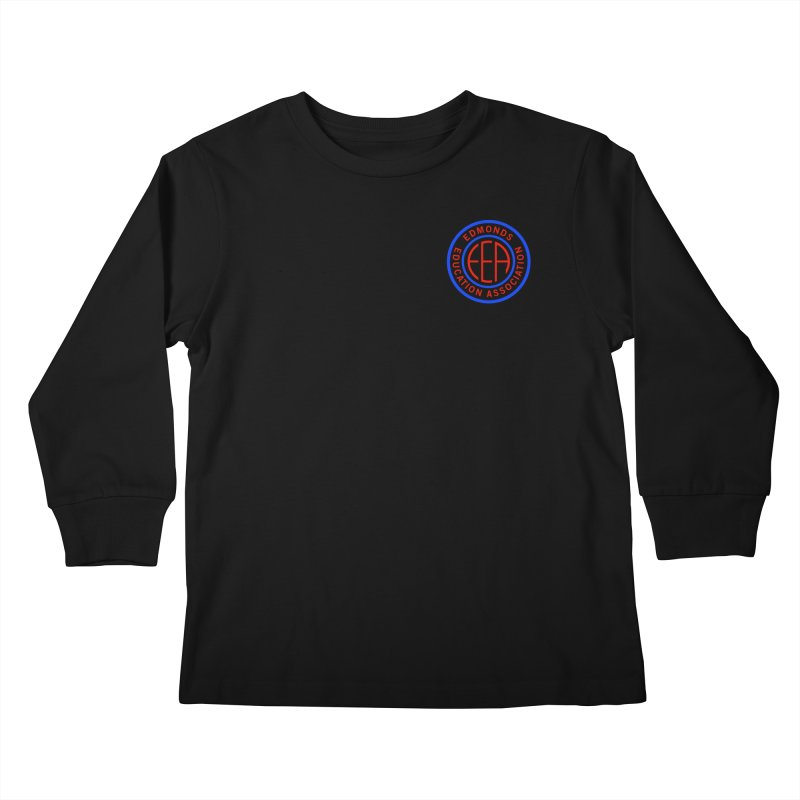 Edmonds EA Seal Logo Size Kids Longsleeve T-Shirt by Edmonds Education Association Swag Shop