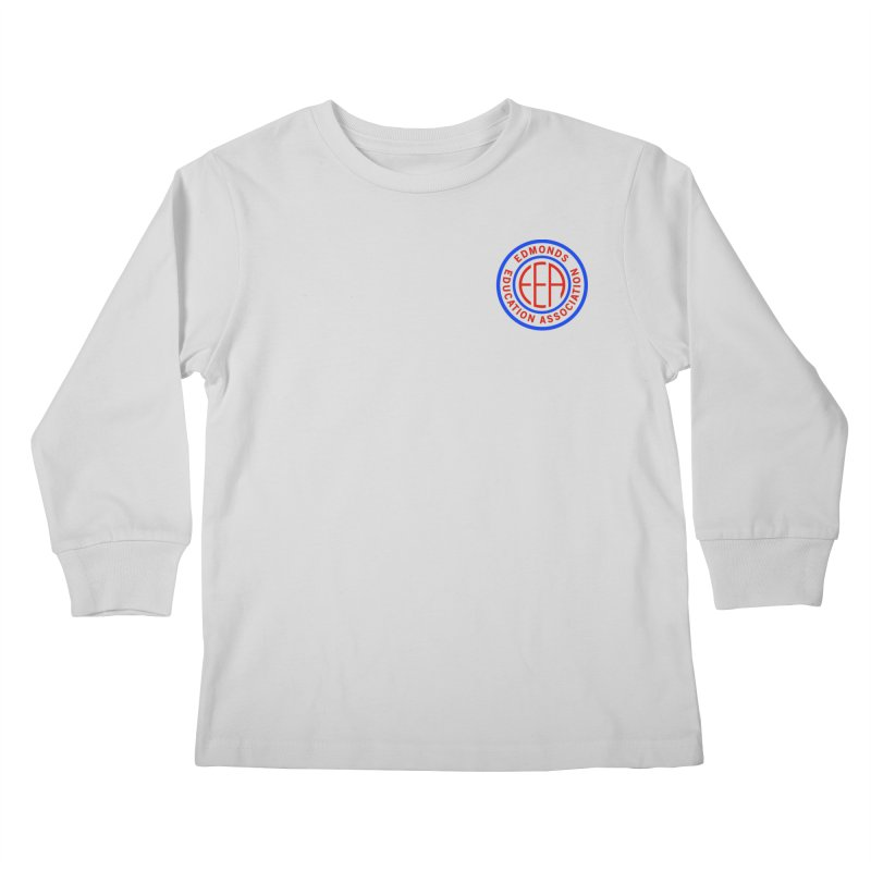 Edmonds EA Seal Logo Size Kids Longsleeve T-Shirt by Edmonds Education Association Swag Shop