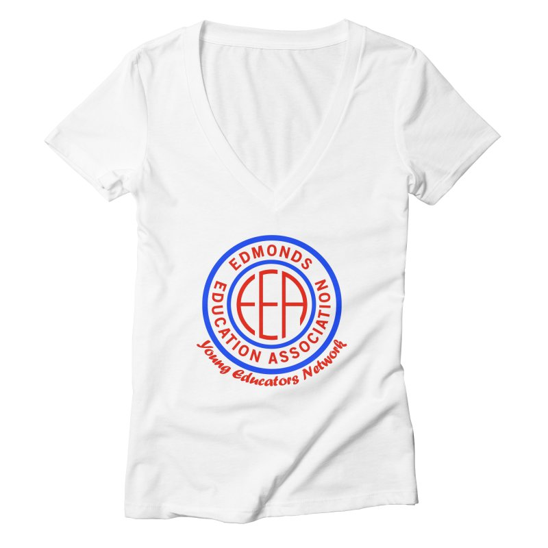 Edmonds EA Seal-Young Educators Network Women's Deep V-Neck V-Neck by Edmonds Education Association Swag Shop