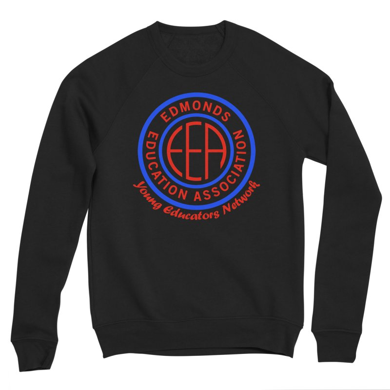 Edmonds EA Seal-Young Educators Network Men's Sponge Fleece Sweatshirt by Edmonds Education Association Swag Shop