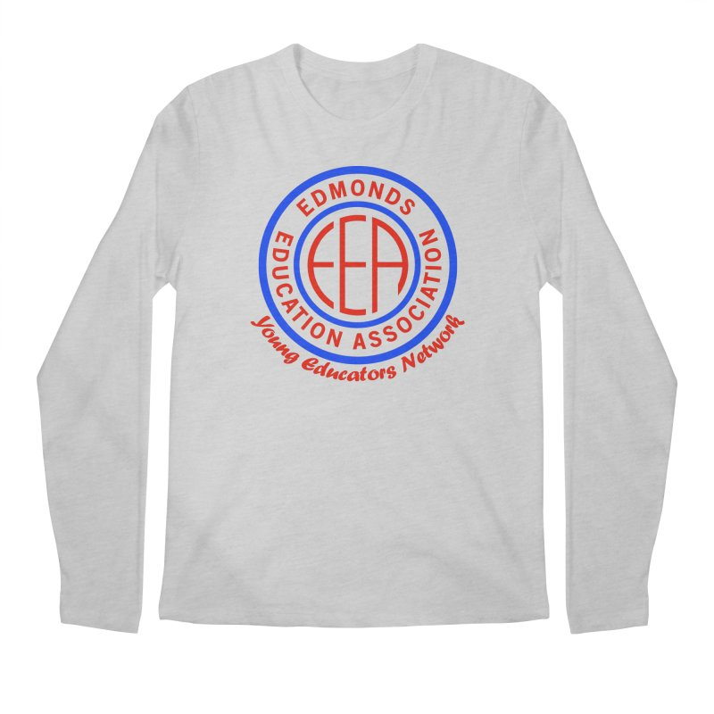 Edmonds EA Seal-Young Educators Network Men's Regular Longsleeve T-Shirt by Edmonds Education Association Swag Shop