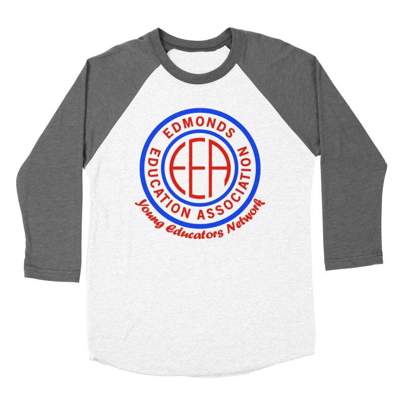 Edmonds EA Seal-Young Educators Network Men's Baseball Triblend Longsleeve T-Shirt by Edmonds Education Association Swag Shop