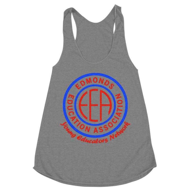 Edmonds EA Seal-Young Educators Network Women's Racerback Triblend Tank by Edmonds Education Association Swag Shop