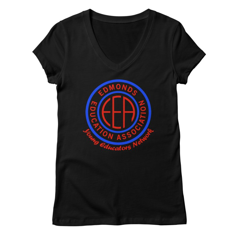 Edmonds EA Seal-Young Educators Network Women's Regular V-Neck by Edmonds Education Association Swag Shop