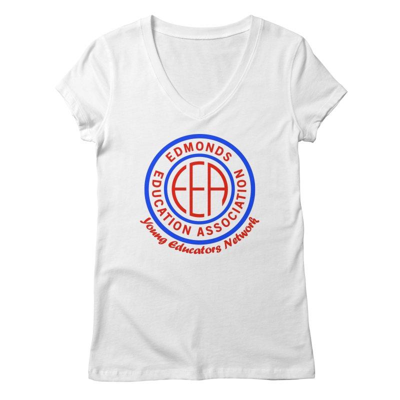 Edmonds EA Seal-Young Educators Network Women's V-Neck by Edmonds Education Association Swag Shop