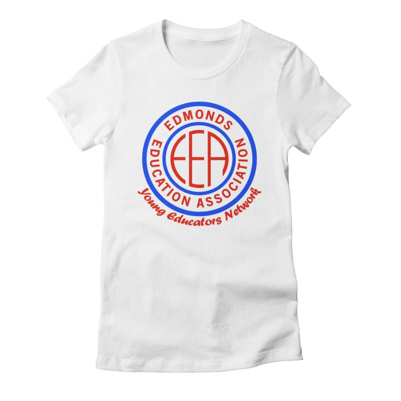 Edmonds EA Seal-Young Educators Network Women's Fitted T-Shirt by Edmonds Education Association Swag Shop