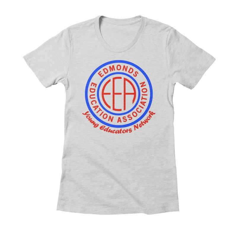 Edmonds EA Seal-Young Educators Network Women's Fitted T-Shirt by Edmonds Education Association Swag Shop